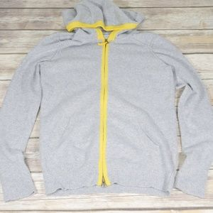 GAP   Medium Hoodie Grey & Yellow 2-Way Zipper